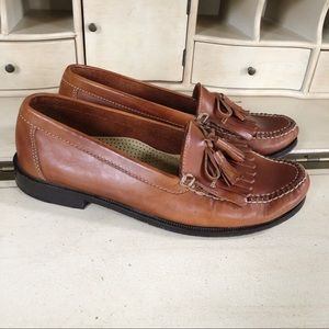 Cole Haan Loafers Dwight Brown Tassels Size 10